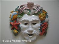 MASCHERA MARINA CERAMICA - Pottery mask of the sea