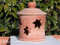 Lanterna stelle in terracotta